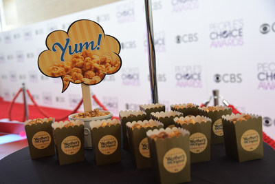 Werther's Original Caramel Popcorn onsite at the People's Choice Awards 2017 Press Conference Red Carpet
