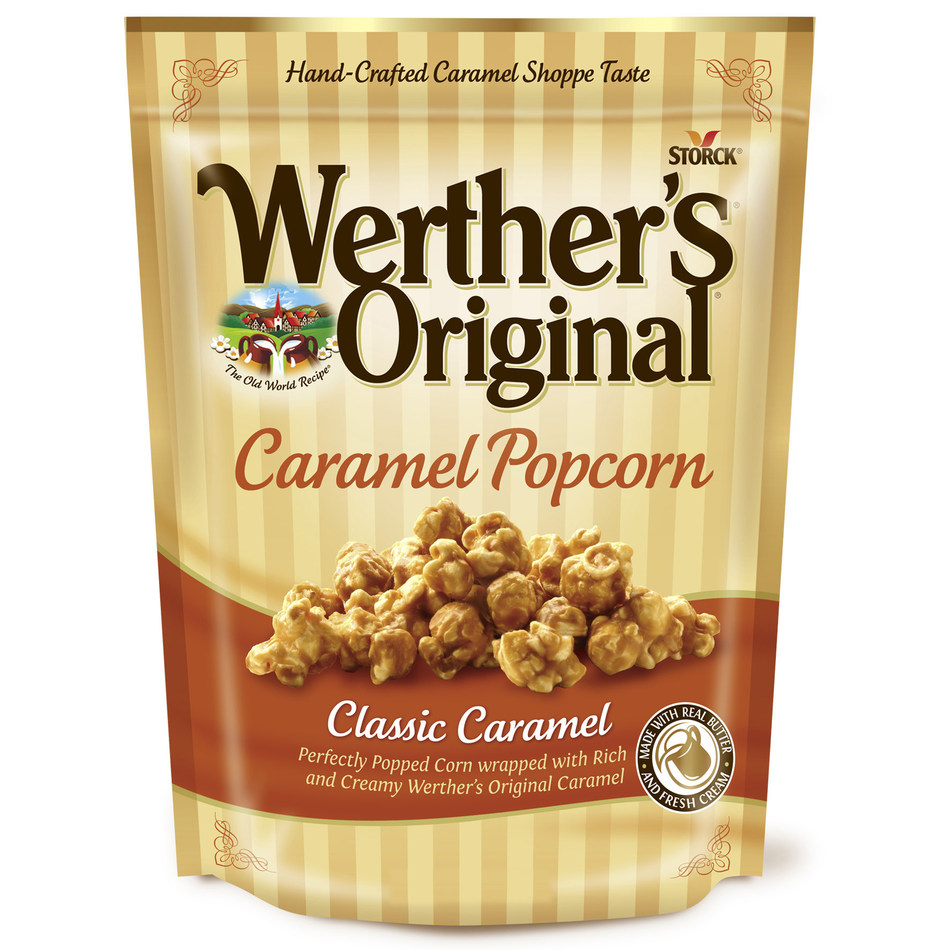 Werther's Original Caramel Popcorn is available in two irresistible flavors: Classic Caramel and Sea Salt & Pretzel