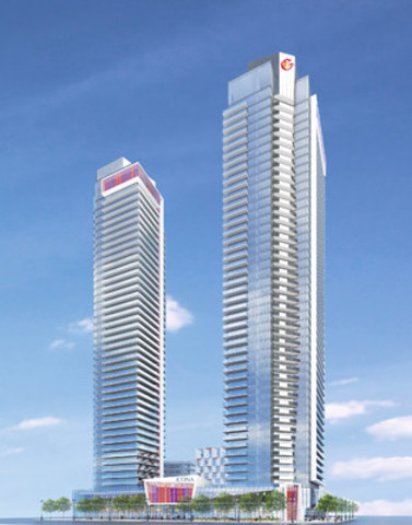 Icona Condominiums by The Gupta Group will be Vaughan's first 50+ storey tower. (CNW Group/The Gupta Group)