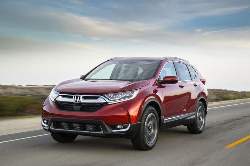 Honda and Acura set multiple sales records in 2016, including all-time monthly and annual records for CR-V. (PRNewsFoto/American Honda Motor Co., Inc.)