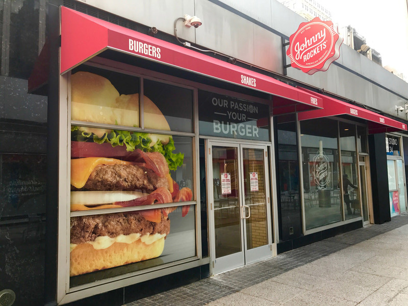 Johnny Rockets Opens New Restaurant in New York City at One Penn Plaza, serving breakfast, lunch, dinner and open late every night.