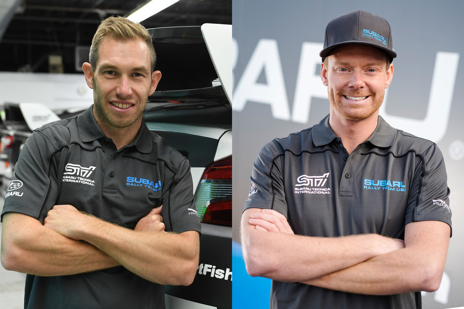 Subaru Rally Team USA announced today Red Bull Global Rallycross (GRC) star Patrik Sandell (right) and former Subaru World Rally Team driver Chris Atkinson (left) will spearhead the factory team's 2017 rallycross efforts.