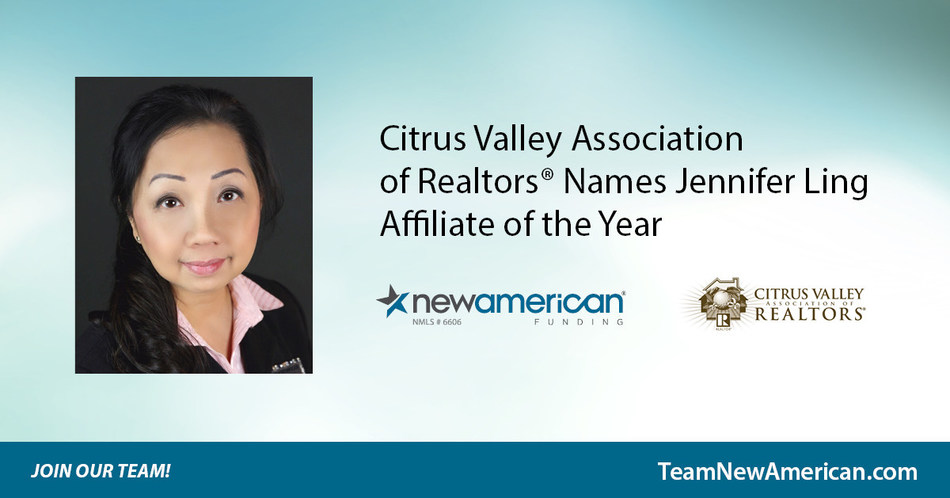 Citrus Valley Association of Realtors Names Jennifer Ling Affiliate of the Year.