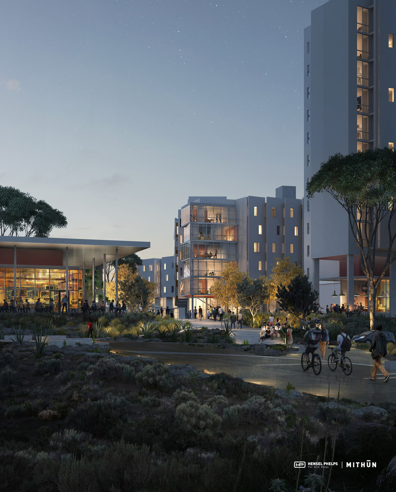 The University of California, San Diego's Nuevo West Graduate Student Housing has an anticipated grand opening of 2019. (Image by Mir)