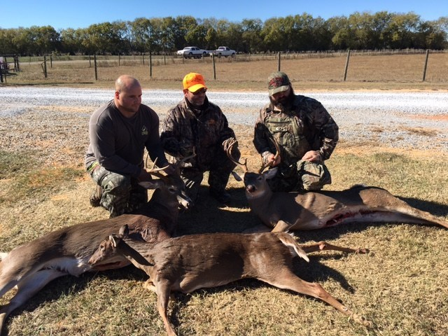 Warriors served by Wounded Warrior Project (WWP) pose with their trophies from a recent deer hunt, hosted by WWP.