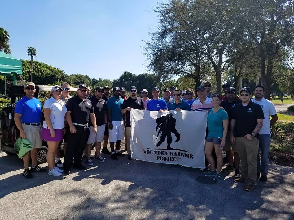 Wounded veterans served by Wounded Warrior Project were honored by the city of Delray Beach at a golf event.
