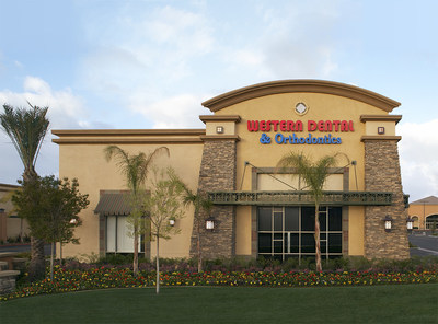 "The Western Dental & Orthodontics office in Murrieta, California, one of 208 offices poised to partner with local high schools with Western Dental's ""Smiles for Schools"" program, which provides $100,000 in total school support funding."