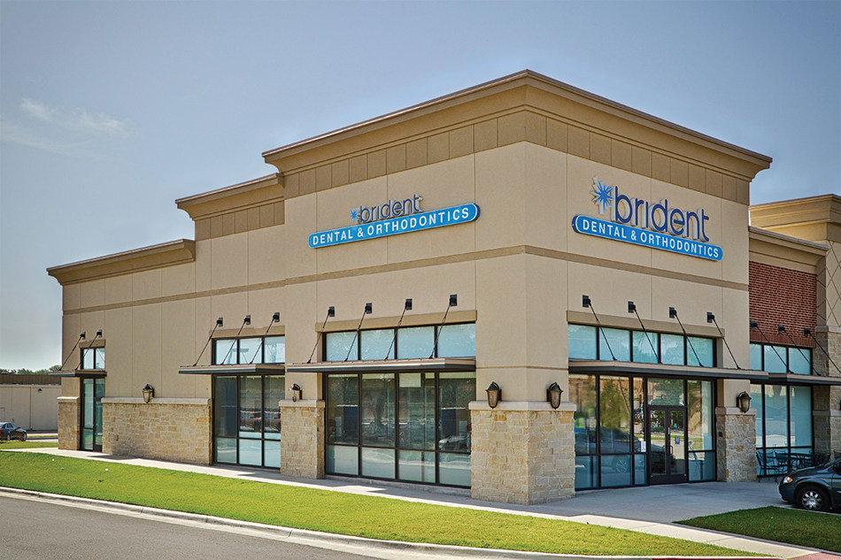 """The Brident Dental & Orthodontics office in Hurst, Texas, one of 208 offices poised to partner with local high schools with Brident Dental's """"Smiles for Schools"""" program, which provides $100,000 in total school support funding."""