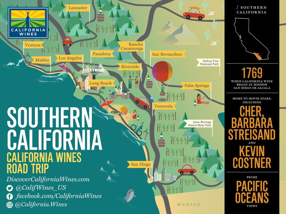 Some 200 wineries and world-class attractions make Southern California a top destination for wine consumers.