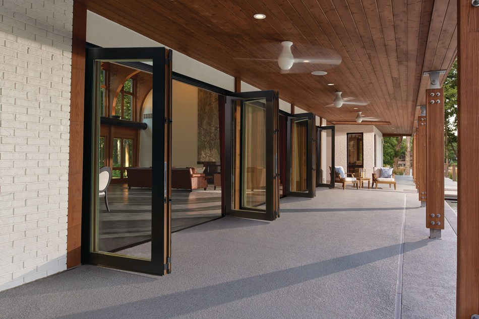 Marvin to showcase new bi fold door at ibs featuring one for Marvin bi fold doors