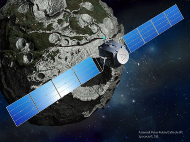 SSL teaming with JPL and ASU on NASA Discovery Mission to Psyche asteroid (CNW Group/SSL)