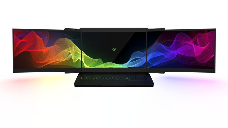 Project Valerie - the world's first triple-monitor laptop setup, designed for PC gaming.