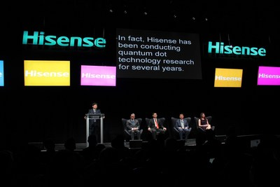 The President of Hisense Group, Mr. Liu Hongxin, announced the display technology line of Hisense on Press Day CES 2017 (PRNewsFoto/Hisense)