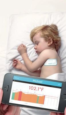 TempTraq wearable, Bluetooth temperature monitor