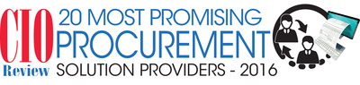 """DCR honored as one of """"20 Most Promising Procurement Solution Providers in 2016"""" by CIOReview."""