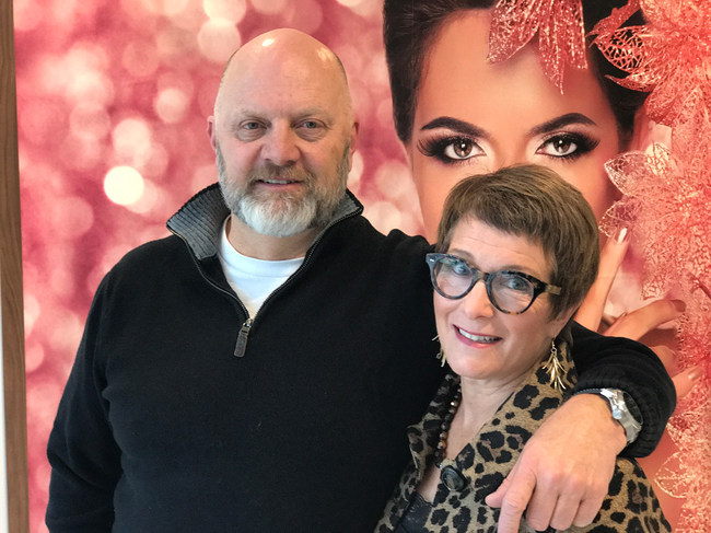 Steve and Liz Gordon, owners of the Deka Lash Studio in the Sugarhouse neighborhood of Salt Lake City, Utah