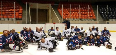 Recently, the Ohio Warriors sled hockey team joined a group of Wounded Warrior Project(R) (WWP) veterans to teach them the ins and outs of the game.