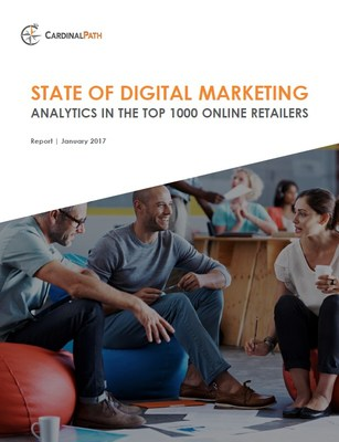 Marketing Analytics Report from Cardinal Path overviews key martech across 1000 top online retailers in the U.S.