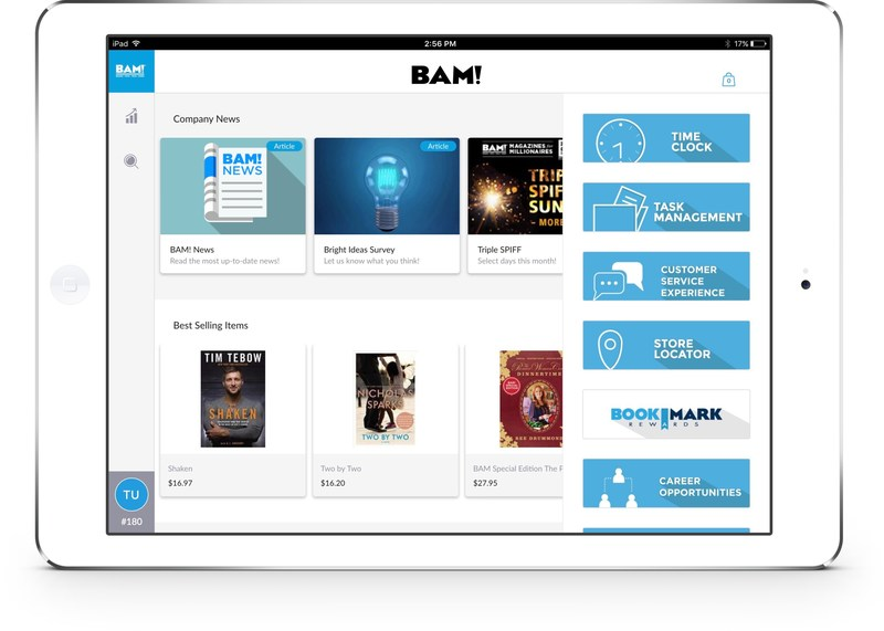 Mad Mobile's Concierge solution for BAM! store associates.