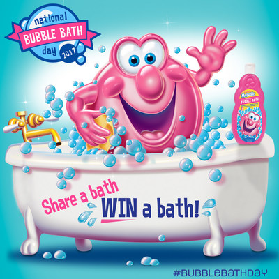 Join the fun on National Bubble Bath Day as Mr. Bubble gives away more than 1,600 bubble baths and issues a bubble bath challenge. #BubbleBathDay