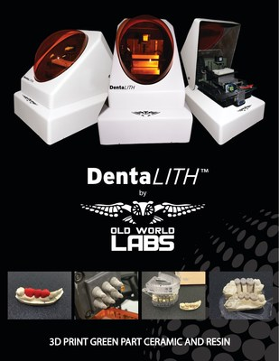 It is now possible to 3D print green part ceramics and resin with the DentaLITH(TM) from Old World Labs