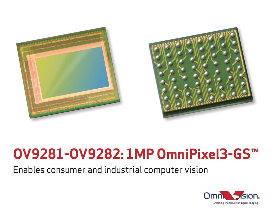 OmnVision's new OV9281 and OV9282 enable consumer and industrial computer vision.