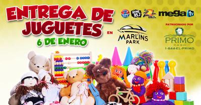 """SBS Radio Miami, MegaTV, LaMusica y Primo Cash haran felices a miles de ninos este dia de reyes con una extraordinaria """"Entrega de Juguetes"""""""