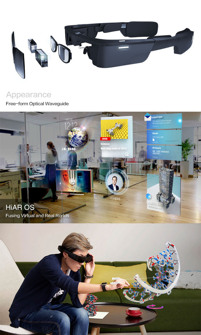 HiAR Glasses, China's leading AR smart glasses