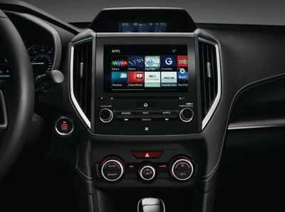 Subaru adds eight apps to the new 2017 Subaru Impreza multimedia system