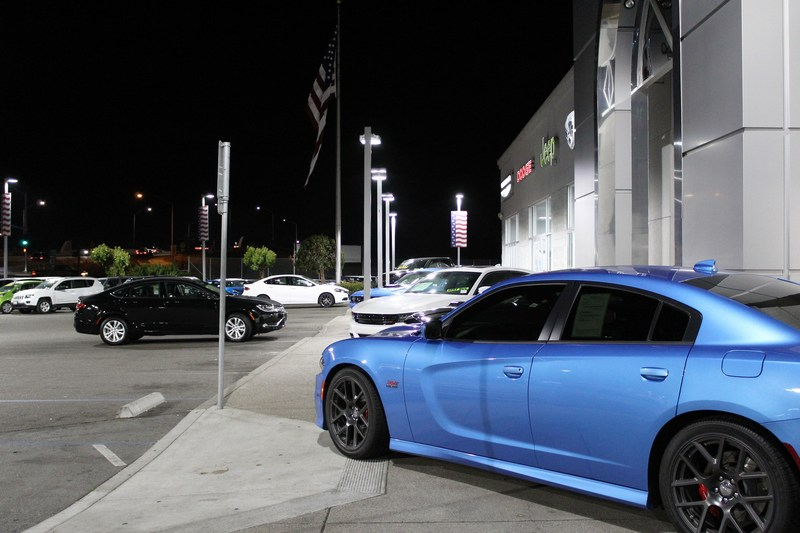This Dodge Charger shows off its true colors under new LED lights at San Leandro Chrysler Jeep Dodge Ram in California.