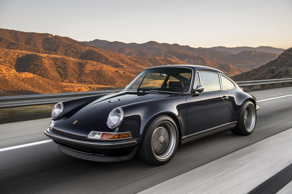 "Michelin's exhibit will also feature two Porsche 911s restored and re-imagined by Singer Vehicle Design of Los Angeles for international clients. The vehicles to be shown are the midnight-blue ""Monaco"" commission and the Rome-red ""London"" commission."