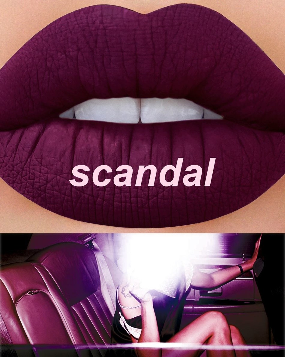 The beauty company's new intense plum matte lipstick designed to add drama to wearers' pouts now available