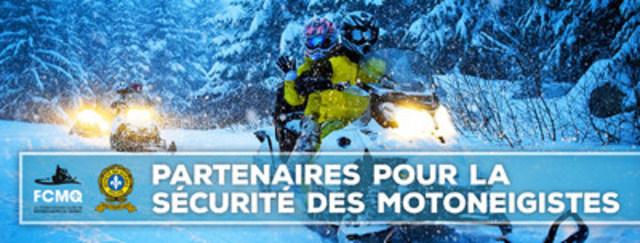 La Fédération des clubs de motoneigistes du Québec et la Sûreté du Québec : Partenaires pour la sécurité des motoneigistes! (Groupe CNW/Sûreté du Québec)