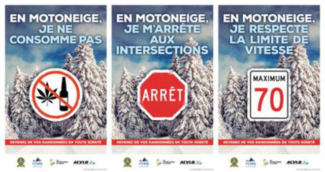 Affiches 2016-2017 - Nouvel outil de prévention  rappelant les principales causes de collision (Groupe CNW/Sûreté du Québec)