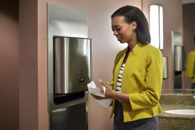 SCA lance en Amérique du Nord de nouvelles solutions de modernisation des distributeurs en acier inoxydable dans les toilettes (Groupe CNW/SCA)