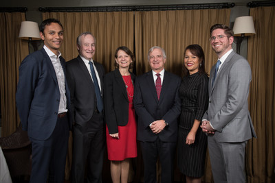 The Formativ Health leadership team includes, from right: Nicholas Stefanizzi, June Scarlett, CEO Dennis Dowling, Sharon Joy, and far left, Dipak Patel. Frank Danza, second from left, is Northwell's chief revenue officer.
