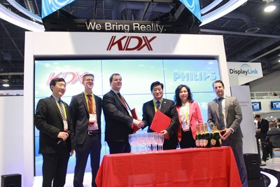 KDX board chairman Mr. Zhong Yu, CEO Ms. Xu Shu, Philips' head of IP Licensing Jako Eleveld attend the ceremony.