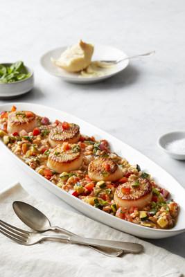 BRIO Sea Scallops & Ratatouille Risotto