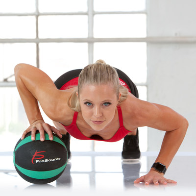 Durable and affordable products like the ProSource Weighted Medicine Ball are fun, versatile tools that help achieve new year's resolutions like weight loss and muscle development.