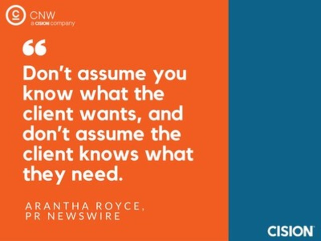 Arantha Royce Quote (CNW Group/CNW Group Ltd.)
