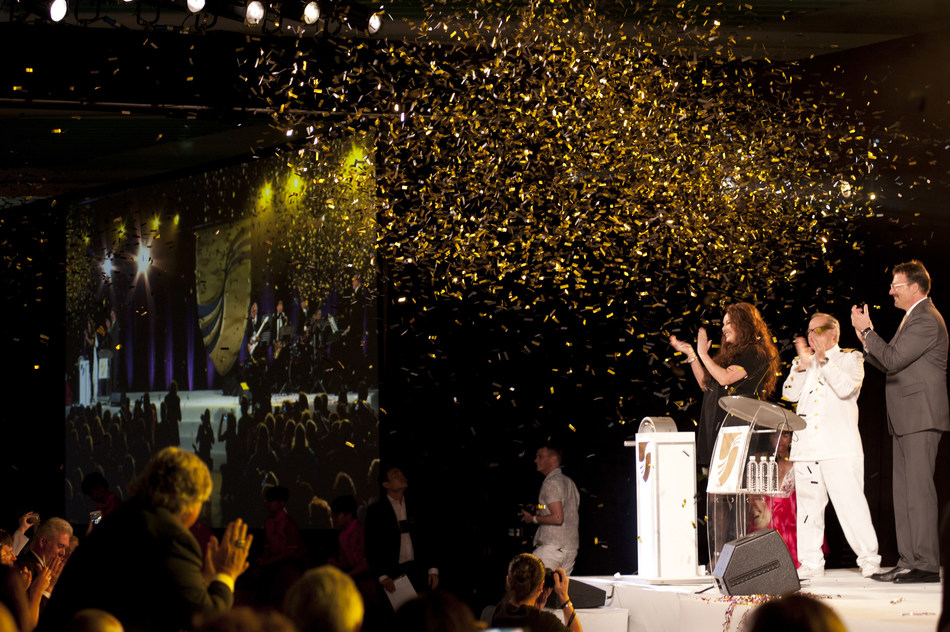 International recording artist and world's best-selling Soprano Sarah Brightman officially names and welcomes Seabourn Encore to the Seabourn family. She served as the godmother of the new ultra-luxury ship, which was named in a festive inaugural gala in Singapore on January 7, 2017.