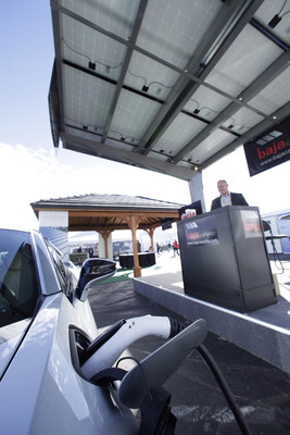 As exclusive solar provider for the CES 2017 Smart Energy Marketplace, LG Electronics featured its award-winning high-performance NeON 2 PV modules to power the electric vehicle carport there.