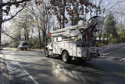 As of Saturday evening, Georgia Power has restored power to more than 98 percent of customers impacted by Winter Storm Helena. Workers worked in sub-freezing conditions to repair damage from ice covered trees and limbs falling on power lines.