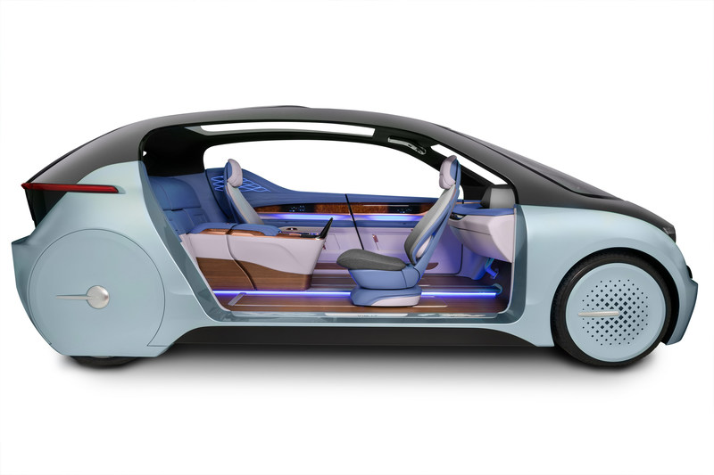 """The XiM17 by Yanfeng Automotive Interiors helps answer the question, """"What will people do in their vehicle, if they no longer have to drive?"""" It is designed to enable the use of several modes: lounge; meeting; family; and driving, enabling the autonomous vehicle to be used in various ways, by multiple people."""