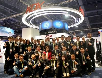KDX team at CES (PRNewsFoto/KDX)