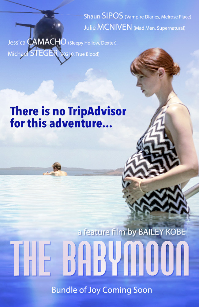 Julie McNiven (Mad Men, Supernatural, Stargate SGU) and Shaun Sipos (Vampire Diaries, Melrose Place, SyFy Network's Dark Matter) star in writer- director Bailey Kobe's pregnancy adventure comedy