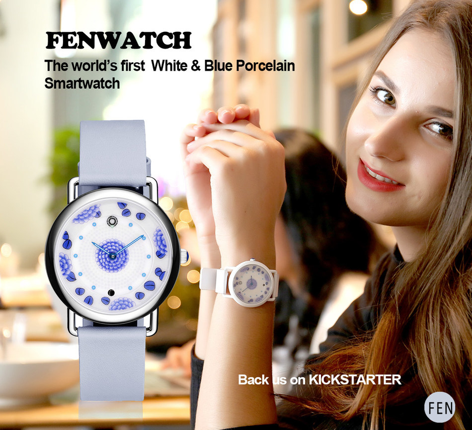 FENwatch, the World's First White & Blue Porcelain Smartwatch