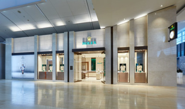 The new Rolex Boutique by Raffi Jewellers, situated within the new luxury wing at Square One Shopping Centre. Photo Credit: Rolex Boutique by Raffi Jewellers. (CNW Group/Raffi Jewellers)