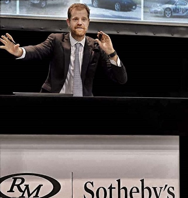 November 2016 - Maarten ten Holder as auctioneer for the RM Sotheby's Duemila Ruote sale in Milan, Italy - the largest automobile collection sale ever staged in Europe.  Attracting unprecedented global interest (3,000+ bidders from 57 countries), over the course of 30 hours, all 817 lots were sold for a remarkable $54.9 million, doubling pre-sale expectations.