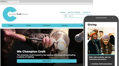 American Craft Council's new website is intuitive and allows members to easily access its wealth of content.